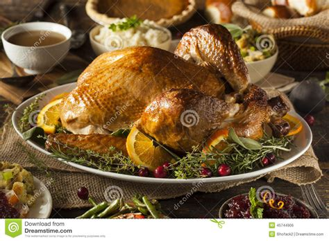 Whole Homemade Thanksgiving Turkey Stock Photo  Image Of