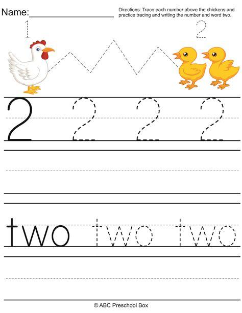 number 2 preschool worksheet from abcpreschoolbox 175   bc9401b85d273a528e86d4c0d7e27f41