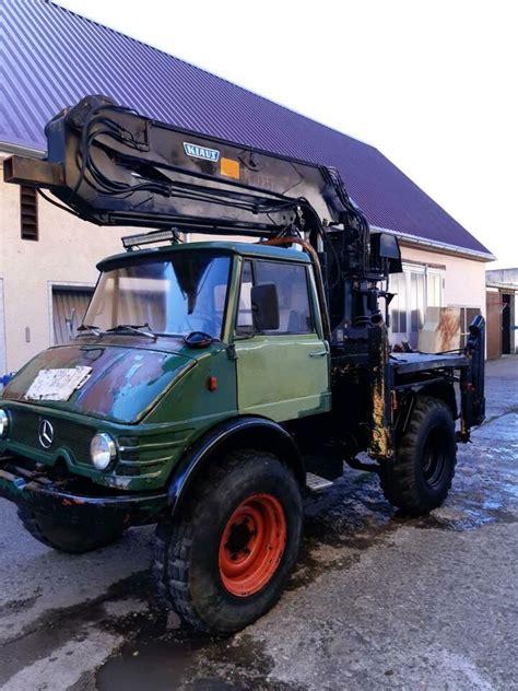 Unimog 406 mit Kran Bagger in Bayern - Höchstädt a.d ...