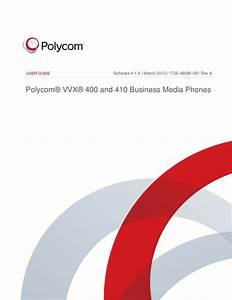 Polycom Vvx400 Range User Guide