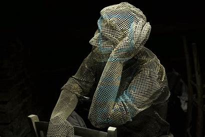 Edoardo Wire Tresoldi Sculpture Mesh Sculptures Chicken