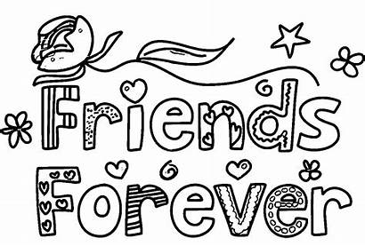 Coloring Forever Friends Pages Friend Drawing Words
