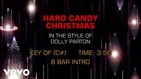dolly parton hard candy christmas karaoke youtube