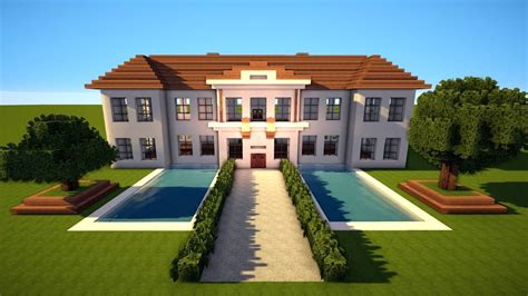 Minecraft Moderne Häuser Zum Nachbauen by Gro 223 Es Minecraft Herrenhaus Schloss Bauen Tutorial Haus 70