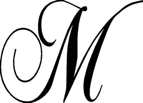 custom large monogram wall decal   monogram wall decals cursive alphabet cursive