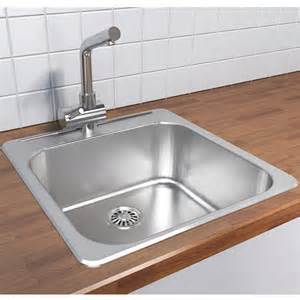 kitchen faucet wall mount cantrio koncepts stainless steel single bowl overmount