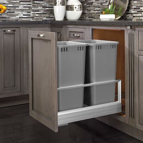 kitchen corner cabinet trash can pull out kitchen cabinet trash pull out rev a shelf double trash