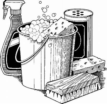 Cleaning Clipart Clip Supplies Housekeeping Housekeeper Supply