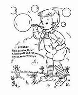 Coloring Nursery Pages Bubbles Rhymes Rhyme Blowing Boy Bubble Theme Adult Songs Goose Mother Rhythm Books Activities Worksheets Getcolorings Class sketch template