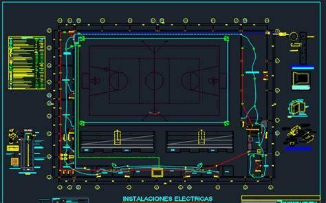 mini sports complex  dwg design full project  autocad