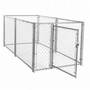kennelmaster 10 ft x 5 ft x 6 ft black powder coated With chain link dog kennel panels home depot