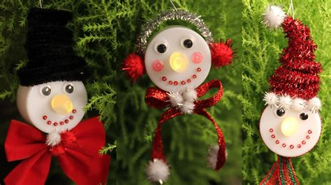 snowman tea light christmas ornaments cheap easy