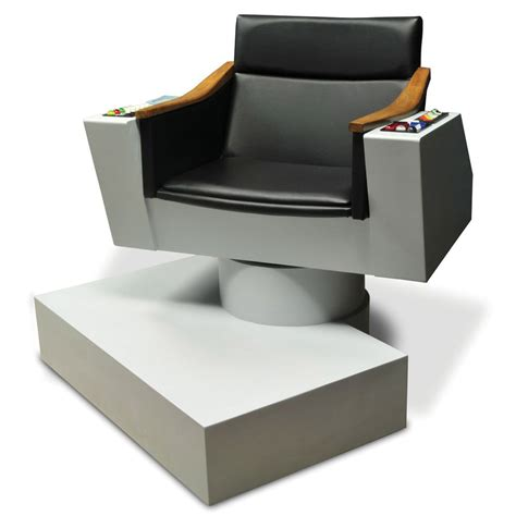 trek captains chair lifesize replica of captain kirk s chair from trek