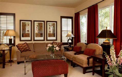 Brown Furniture Red Curtains Curtain Menzilperdenet