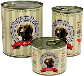 dosenfutter fuer hunde barfers wellfood