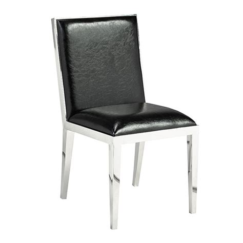 emario black leatherette dining chair xcella