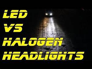 Halogen Deckenfluter Led Umrüsten : led headlights install review led vs halogen head light bulbs youtube ~ Watch28wear.com Haus und Dekorationen