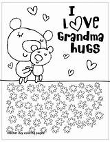 Mothers Grandma Coloring Pages Happy Hallmark Grandmother Mother Printable Birthday Sheets Template Cards Mom Printables Templates Bright Idea Getcolorings Crafts sketch template