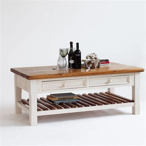 Boddem Coffee Table White Pine Cottage Style 25347