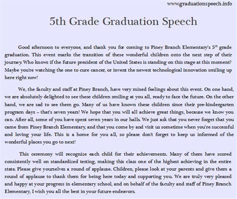 8th Grade Graduation Speech  Writing Tips