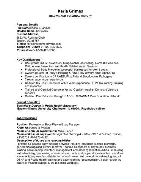 How To Name A Resume by Karla Grimes Resume Cover Letter