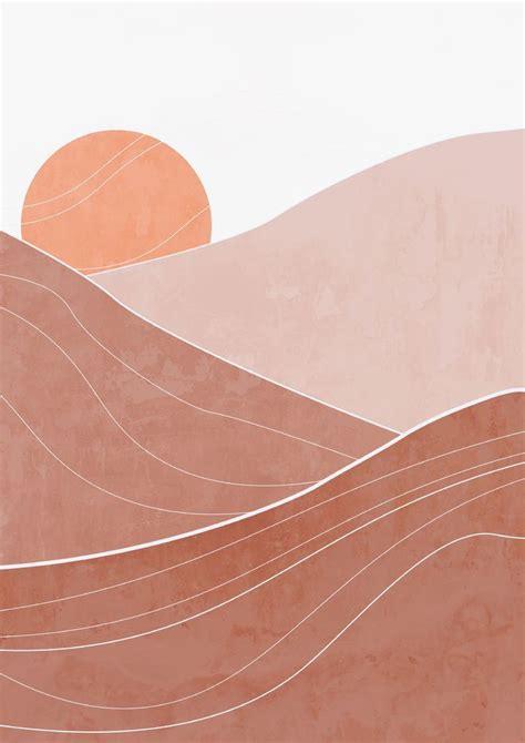 modern boho abstract desert boho desert print