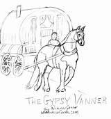 Gypsy Coloring Vanner Horse Getcolorings Printable Danger Gipsy Getdrawings sketch template