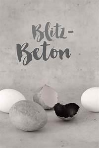 Beton Gießen Basteln : blitzschnell ostereier in beton optik handmade kultur ~ Indierocktalk.com Haus und Dekorationen