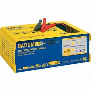 Chargeur Demarreur De Batterie : chargeur de batterie batium 15 24 6 12 24v 230v 450w gys ~ Dailycaller-alerts.com Idées de Décoration