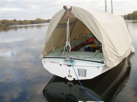 Wayfarer Dinghy Boat Cover by Hooped Boom Tent On A Wayfarer Dinghy I M Not Sure How