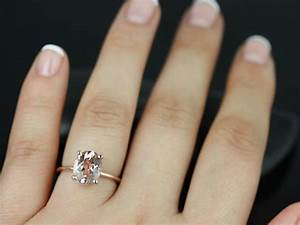rosados box dani rose gold thin oval morganite classic With oval engagement ring and wedding band