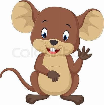Cartoon Mouse Clipart Maus Muis Waving Mimpi