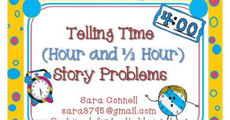 First Grade Funtastic Telling Time Story Problems
