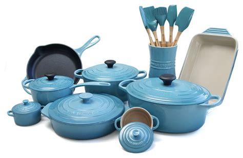 cookware sets creuset le stoneware iron cast piece kitchen traditional caribbean