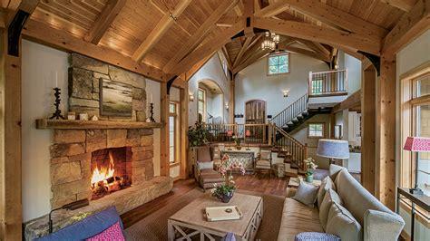 york timber frame retreat great rooms fireplace design