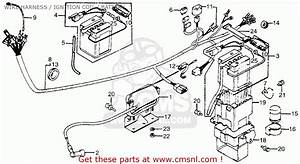 Honda Ct70 Trail 70 1982  C  Usa Wire Harness    Ignition Coil    Battery