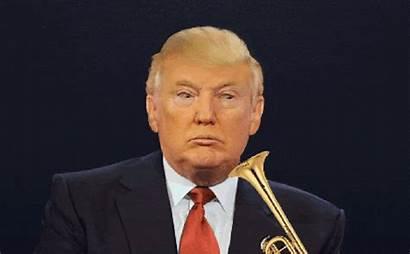 Trump Donald Trumpet Hair Gifs Blow Face