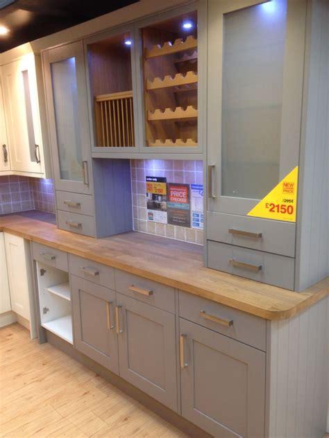 Kitchen Ideas B And Q by Grey Kitchen With Oak Worktop B Q Kuchyně Kitchen