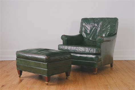 green leather chair ottoman homestead seattle