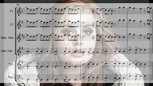 ADELE - Set Fire To The Rain - Arrangement for flute, sax ...