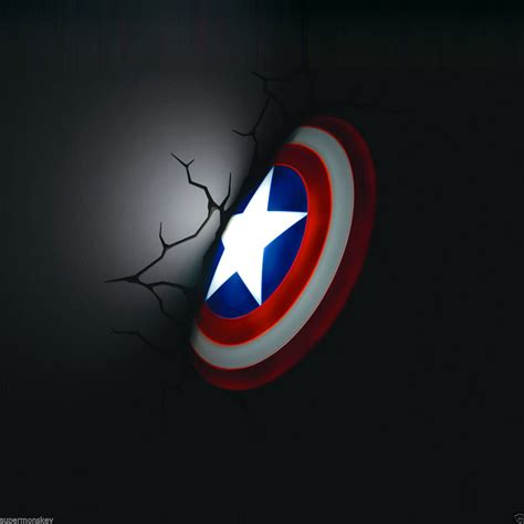 marvel 3d deco light fx captain america shield