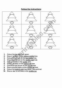 English Worksheets  Follow The Instructions