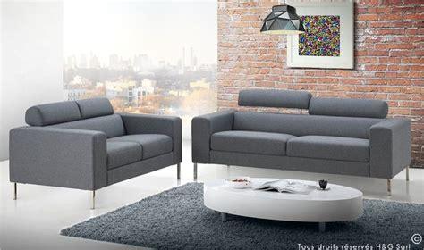 canapé tissu moderne canape 2 ou 3 places moderne gris mobilier design