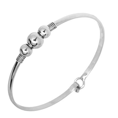 Cape Cod Wire Wrap Triple Ball Silver Cuff Bracelet