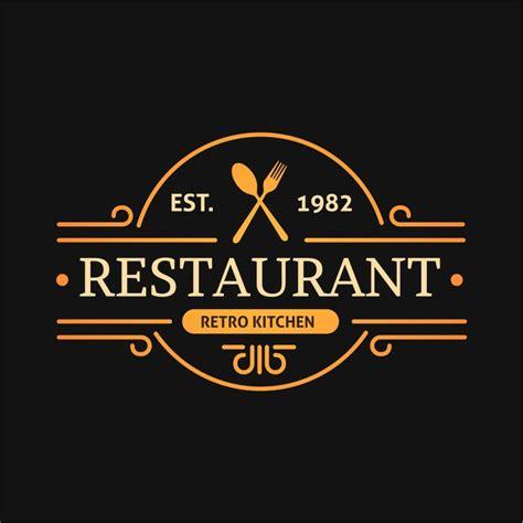 vector retro kitchen design restaurant logo