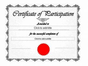 Certificate Of Participation Template Free Certificate Of Participation Template New Calendar Template Site