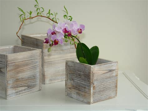 wooden box vases wood box woodland planter flowers vases rustic pot square