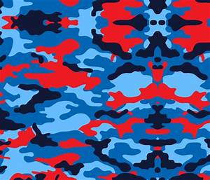 Camouflage red and blue, camo army fabric - jamesdean ...