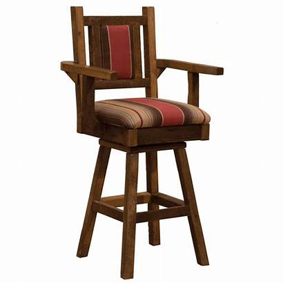 Swivel Counter Arms Stool Upholstered Inch Barnwood
