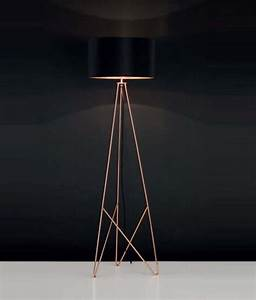 modern geometric tripod floor lamp with shade available in With copper camera floor lamp